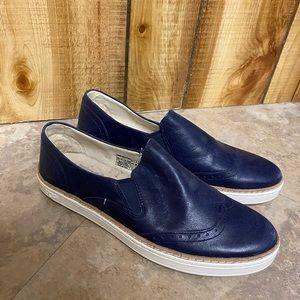 Blue ugg slip on shoes